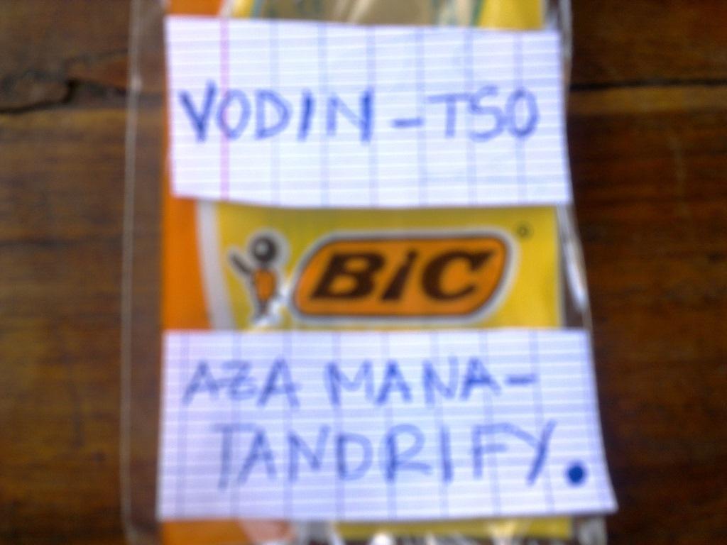 Vodin-tsoBIC aza mana-tandrify