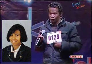 """Dans """"Kopi Kolé"""", ce candidat de Tana prétend être le sosie de la chanteuse malgache Hantatiana (dans l'encadré) mais les membres du jury semblent ne pas être trop convaincus (et ils ne sont pas les seuls). Il est cependant devenu une star sur Youtube."""